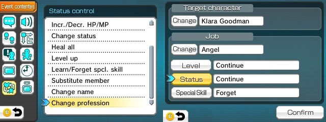 How to add a class change system to RPG Maker Fes | Michibiku