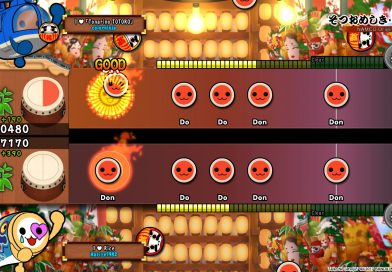In the latest English release, it takes two to Taiko