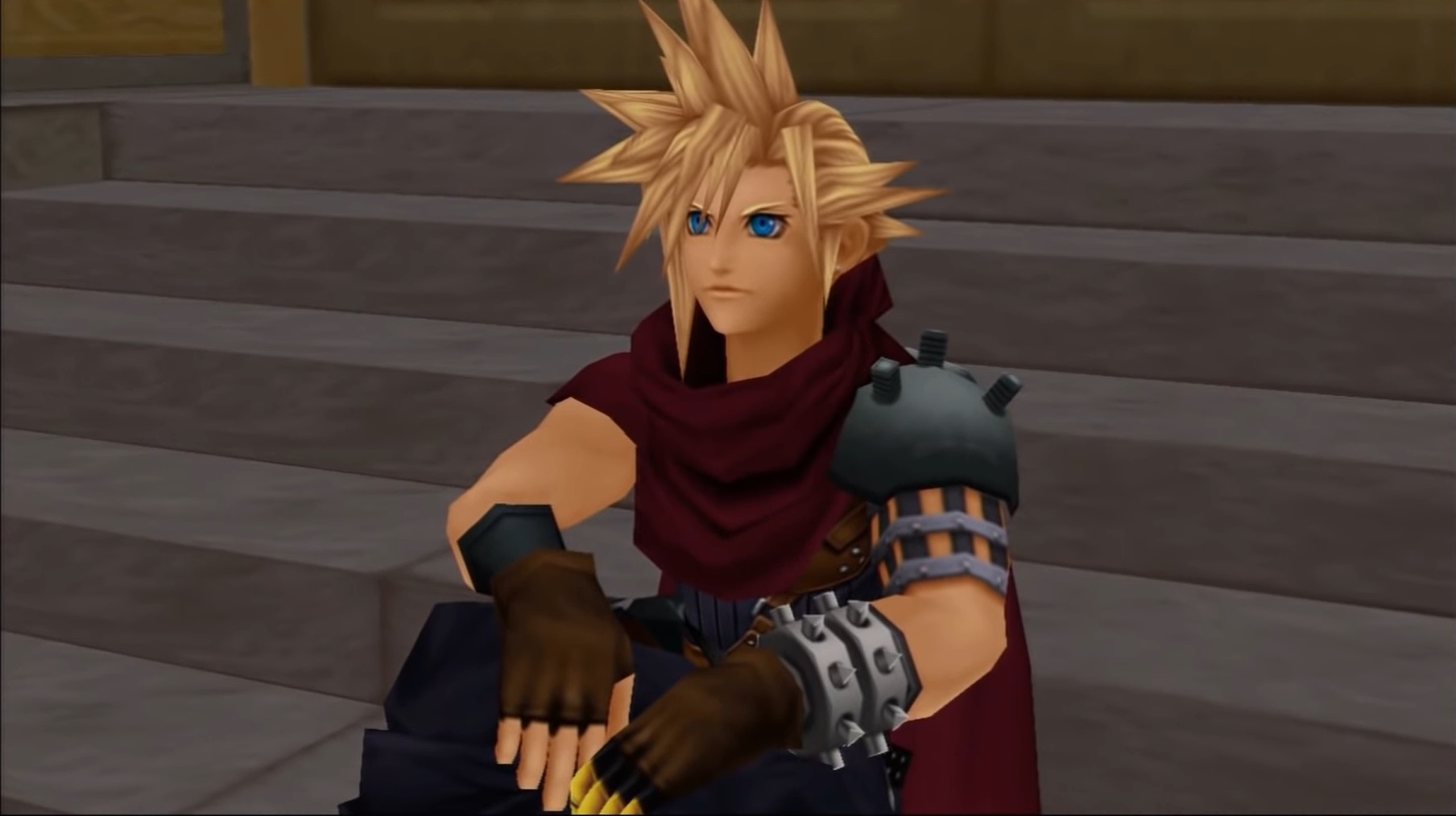 cloud final fantasy in kingdom hearts